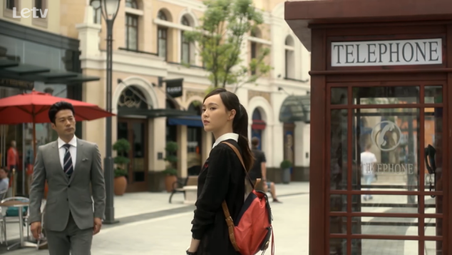 look at that telephone booth!