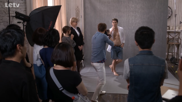 yuan feng also tries his hand at shooting the supermodel