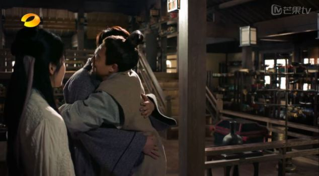 hey, gong ming, i thought you said han men don't hug? LIES!!!